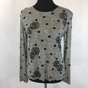 VTG Pierre Cardin Black/White Sequins Top | Large